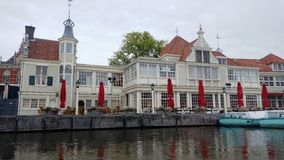 A nice restaurant on the banks of the Rhine Royalty Free Stock Photo