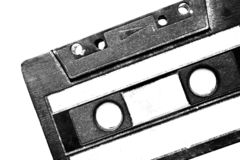 Nice retro cassette detail. Creative design of nice retro cassette detail stock photography