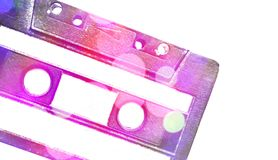 Nice retro cassette detail. Creative design of nice retro cassette detail stock image