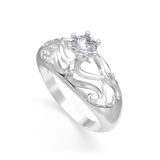 Nice ring with diamond Royalty Free Stock Photography