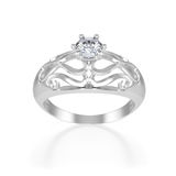 Nice ring with diamond Royalty Free Stock Images