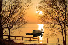Nice river sunset Stock Photo