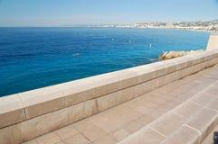 Nice riviera. Azur coast in Nice France Royalty Free Stock Image