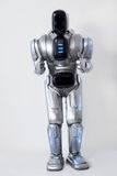 Nice robot standing on white background Stock Images