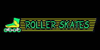 Nice roller skates message Stock Photo