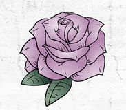 Nice rose illustration Royalty Free Stock Photo