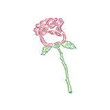 Nice rose, sketch style, doodle, vector illustration Royalty Free Stock Image