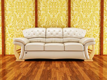 A nice royal sofa on the vintage background Royalty Free Stock Photo