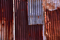 Nice rusty color of zinc plate pattern background. Stock Image