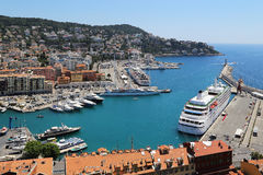 Nice's harbour Royalty Free Stock Image