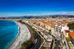 Nice's promenade Royalty Free Stock Images