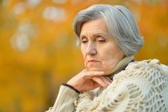 Nice sad old woman Stock Photos
