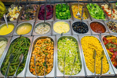 Nice salad buffet in a restaurant Royalty Free Stock Photos