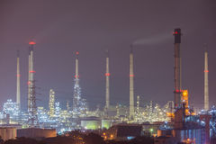 Nice scene of oil refinery power station at Lamchabang, Thailand. Stock Images