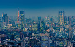 Nice scene of Tokyo cityscape at night time Stock Photo
