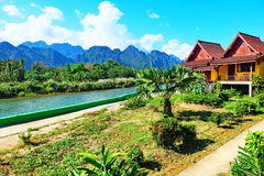 Nice Scenery Vang Vieng royalty free stock photo