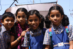 Nice schoolchildren of India Royalty Free Stock Images