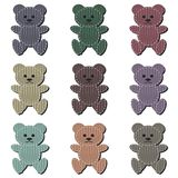 Nice scrapbook teddy bears on white Stock Image