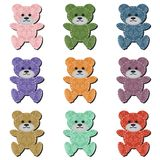 Nice scrapbook teddy bears on white Royalty Free Stock Photos