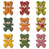 Nice scrapbook teddy bears on white Royalty Free Stock Photography