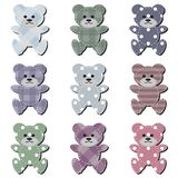Nice scrapbook teddy bears on white Stock Photography