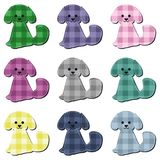 Nice scrapbook textile dogs on white Royalty Free Stock Photo