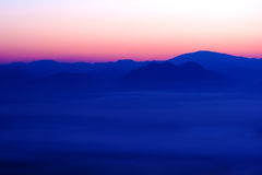 Nice sea of mist in Thailand Royalty Free Stock Photography