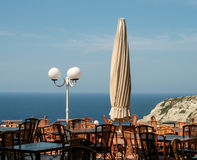 Nice sea view during lunch Stock Photo