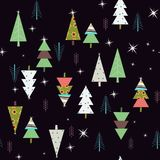 Nice Seamless Spruce Pattern. Seamless pattern with forest spruce trees in bright colors. It is nice for wrapping paper, textile and any background Royalty Free Stock Photo