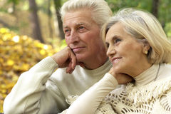 Nice senior couple standing Stock Image