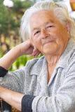 Nice senior woman stock photos