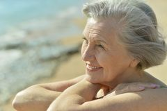 Nice senior woman Royalty Free Stock Photo