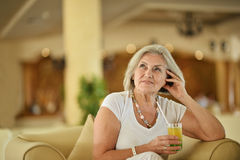 Nice senior woman Royalty Free Stock Images