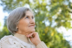 Nice Senior woman Stock Photos