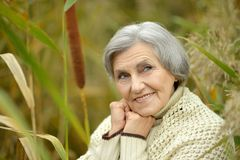 Nice Senior woman Stock Images