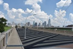 View from Trinity Skyline Trail of Dallas Texas stock image