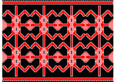 Nice serbian carpet Royalty Free Stock Image