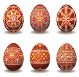 Nice set of easter eggs Stock Photo