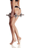 Nice sexy woman doing workout with dumbbell Royalty Free Stock Photos