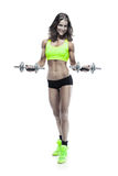 Nice sexy woman doing workout with dumbbell  (retouched) Stock Photography