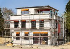 Nice shell construction with scaffold Stock Image