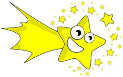 Nice Shooting star cartoon Royalty Free Stock Photo