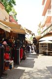 Nice Shops Of Marroquineria By The Narrow Streets Of The Neighborhood Near The Market. History Architecture Travel. stock photos