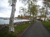 The nice shore of Vadstena. stock images