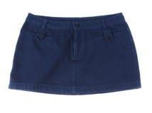 Nice girl jean skirt Stock Images