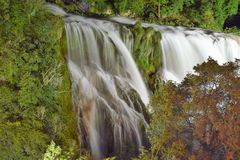 A beaoutifully tranquil image of marmore falls waterfall, italy Umbria Royalty Free Stock Image