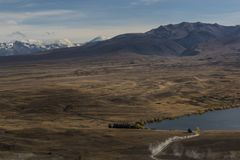 Nice shot from viewpoint of Lake Alexandrina. Stock Photos