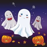 Nice shy ghost scared by friends Stock Photography