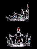 Nice silver crown. On the black background Royalty Free Stock Image