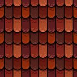 Raster seamless texture of the roof cover tiles royalty free illustration